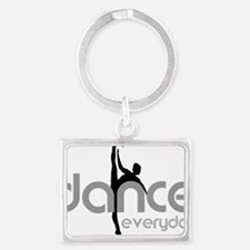 dance everyday Landscape Keychain