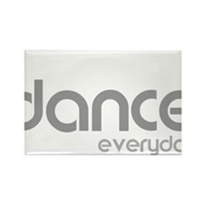 dance every day for black Rectangle Magnet