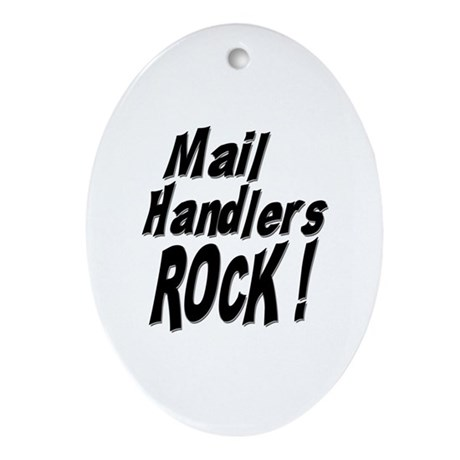 Mail Handlers Rock ! Oval Ornament