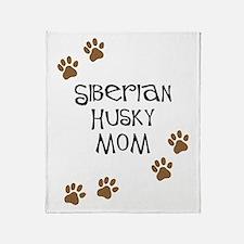 Siberian Husky Mom Throw Blanket