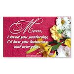 Mom, I Love You Rectangle Sticker