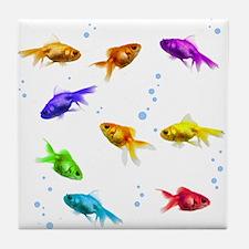 Rainbow Fish Tile Coaster