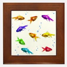 Rainbow Fish Framed Tile