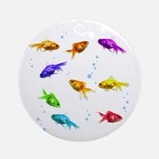Rainbow Fish Ornament (Round)