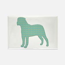 Paisley Bullmastiff Rectangle Magnet (100 pack)