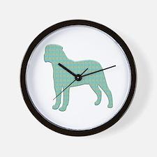 Paisley Bullmastiff Wall Clock