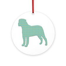 Paisley Bullmastiff Ornament (Round)