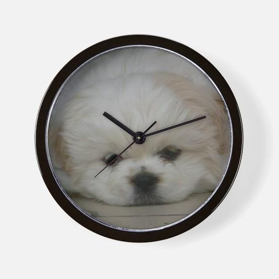 Pekingese Puppy Wall Clock