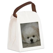 Pekingese Puppy Canvas Lunch Bag