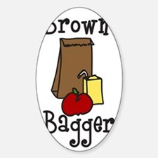 Brown Bagger Sticker (Oval)