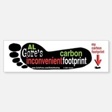 Gore Inconvenient Carbon Footprint bumper sticker