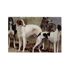 Borzoi Sighthound Plate Rectangle Magnet