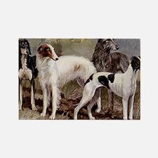 Borzoi Sighthound Plate Rectangle Magnet
