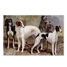 Borzoi Sighthound Plate Postcards (Package of 8)