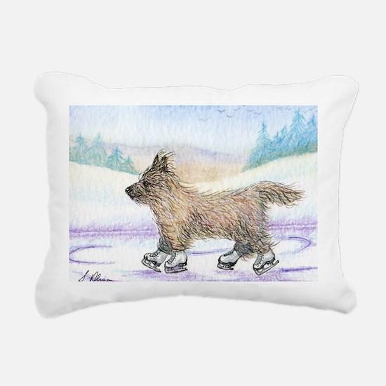 He enjoyed the wind thro Rectangular Canvas Pillow