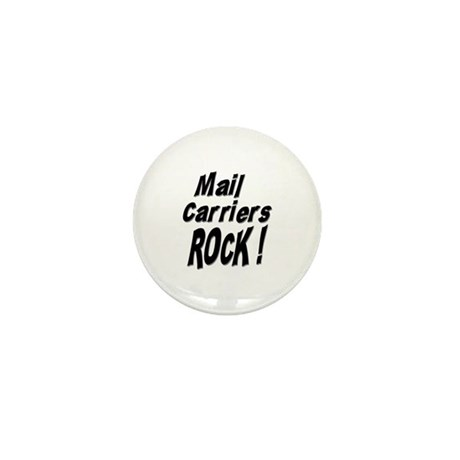 Mail Carriers Rock ! Mini Button (10 pack)