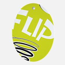 Flip logo Oval Ornament