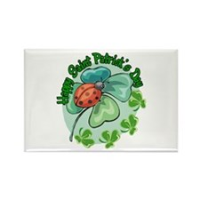 Lucky Ladybug St. Patick's Day Rectangle Magnet