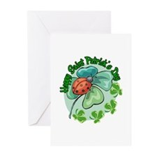 Lucky Ladybug St. Patick's Day Greeting Cards (Pac
