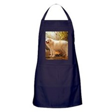 Great Pyrenees Shower Curtain - Alazo Apron (dark)