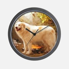 Great Pyrenees Shower Curtain - Alazon Wall Clock