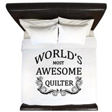 World's Most Awesome Quilter King Duvet