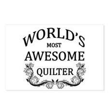 World's Most Awesome Quilter Postcards (Package of