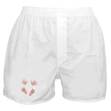 Love Arriving Soon Maternity Design Boxer Shorts