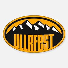 UllrFest Mountain Sticker (Oval)