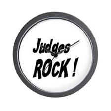 Judges Rock ! Wall Clock