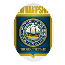 New Hampshire Seal (back) Oval Ornament