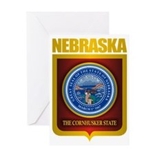 Nebraska Seal (back) Greeting Card