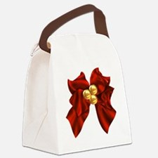 christmas bow Canvas Lunch Bag