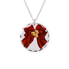 christmas bow Necklace