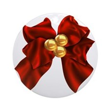 christmas bow Round Ornament