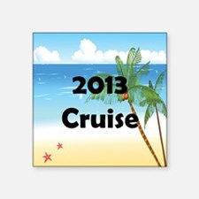 "Palm Tree Cruise 2013 Square Sticker 3"" x 3"""