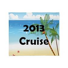 Palm Tree Cruise 2013 Throw Blanket
