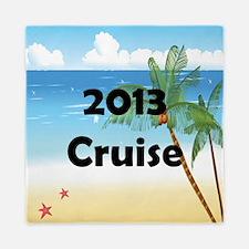 Palm Tree Cruise 2013 Queen Duvet