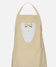 Gold Tux Tie and Studs Apron