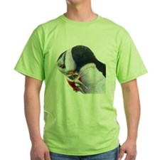 Puffin with Fish Bird Art T-Shirt