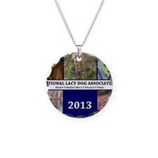 2013 Lacy Dog Wall Calendar Necklace Circle Charm