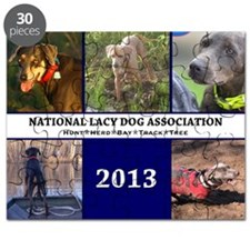 2013 Lacy Dog Wall Calendar Puzzle