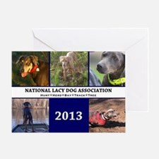 2013 Lacy Dog Wall Calendar Greeting Card