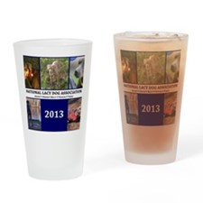 2013 Lacy Dog Wall Calendar Drinking Glass
