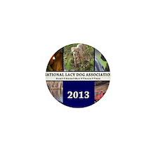 2013 Lacy Dog Wall Calendar Mini Button