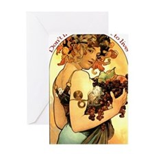 Eat to Live Apron Greeting Card
