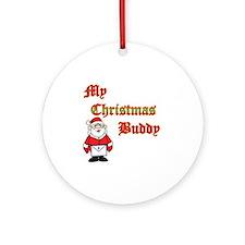 Christmas Buddy Round Ornament