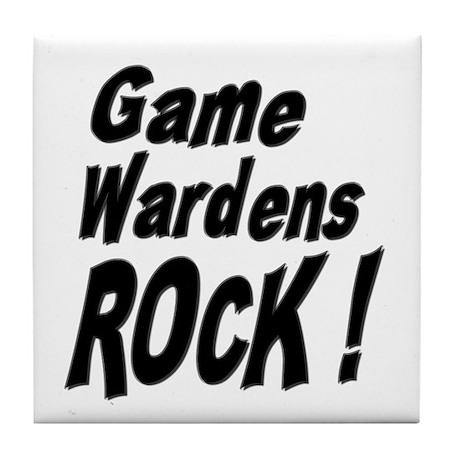 Game Wardens Rock ! Tile Coaster