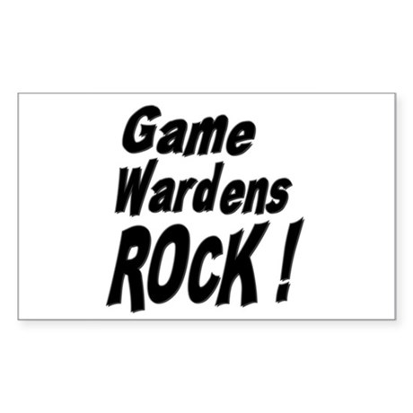 Game Wardens Rock ! Rectangle Sticker