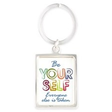 Be yourself Portrait Keychain